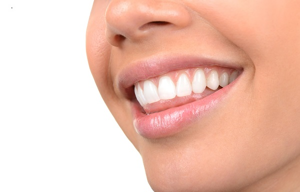 Image of very Beautiful Clean Teeth on White
